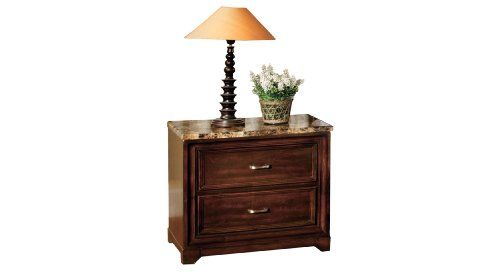 Furniture of America Riello Transitional Style 2-Drawer Nightstand, Antique Oak Finish Two (2) spacious drawers for ample storage of bedside necessities. Place an alarm clock, lamp, book and more on the beautiful and unconventional faux marble top. Rustic finish in antique oak to emphasize sturdy solid wood and wood veneer construction. Dimensions: 24W x 17D x 24H.  #FurnitureOfAmerica #Home