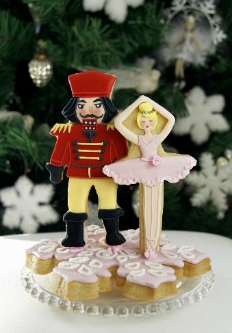 Nutcracker Christmas decorated cookies by Patricia Arribálzaga