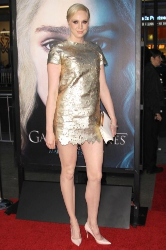 We Barely Recognized The Game Of Thrones Gals At Last Night's Premiere - Tall and golden Gwendoline Christie.  This lady is beautiful!
