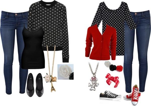 """Black Polka Dot shirt"" by zuly1212 ❤ liked on Polyvore"