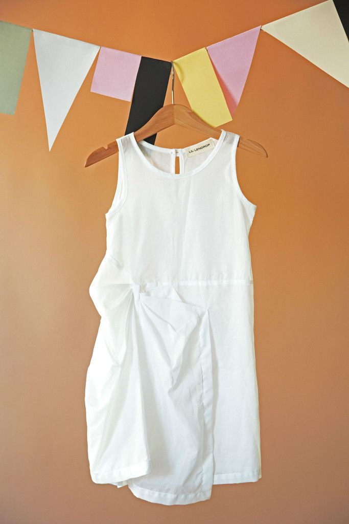 BOW DRESS WHITE