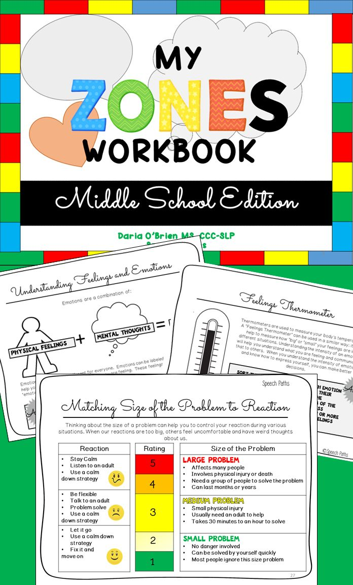 Many of you enjoyed the elementary version of the Zones Workbook I posted. Here is the middle school version! Reinforce the Zones of Regulation concepts with 25 interactive worksheet activities that compile into a personalized workbook!
