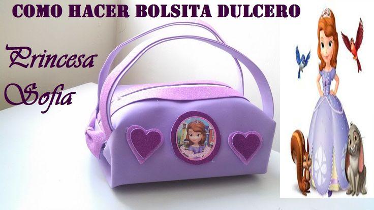COMO HACER BOLSITA DE GOMA EVA PRINCESITA SOFIA