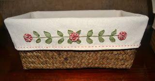Momentos de Costura: Tutorial fundas de cestas bordadas con cintas