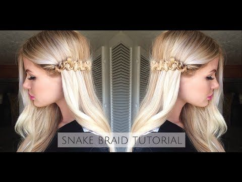 Snake Braid Tutorial - YouTube