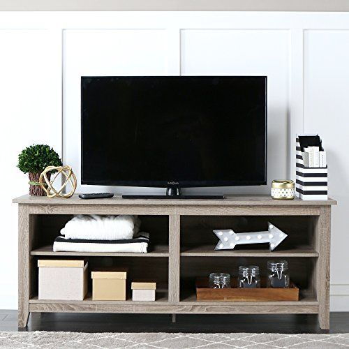"WE Furniture 58"" Wood TV Stand Storage Console, Driftwood... https://smile.amazon.com/dp/B00FFU9P7E/ref=cm_sw_r_pi_dp_x_ZdkJybAB2A24H"