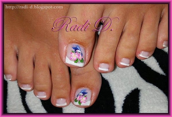 It`s all about nails: French toes http://radi-d.blogspot.com/2014/07/french-toes.html