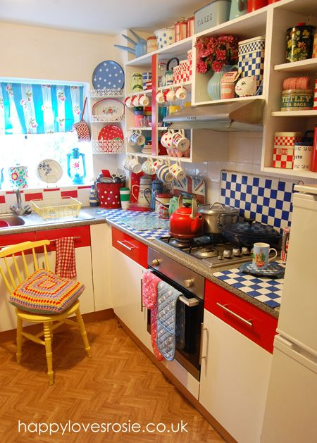 another view of our vintage kitchen makeover