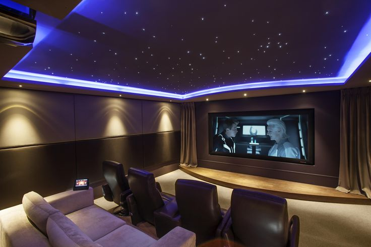 Home Cinema Lighting from Starscape. Coolest home theater idea. Definite must have.