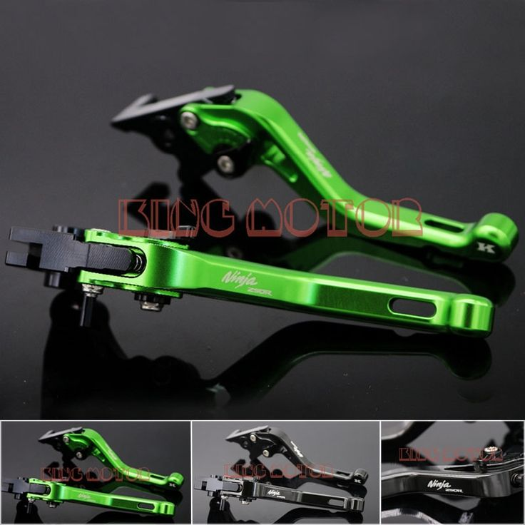 37.79$  Watch more here  - For Kawasaki Ninja 250R 2008-2015 Motorcycle Accessories Short Brake Clutch Levers Green