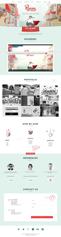 Pigeon   //  #WebDesign #GraphicDesign #Inspiration