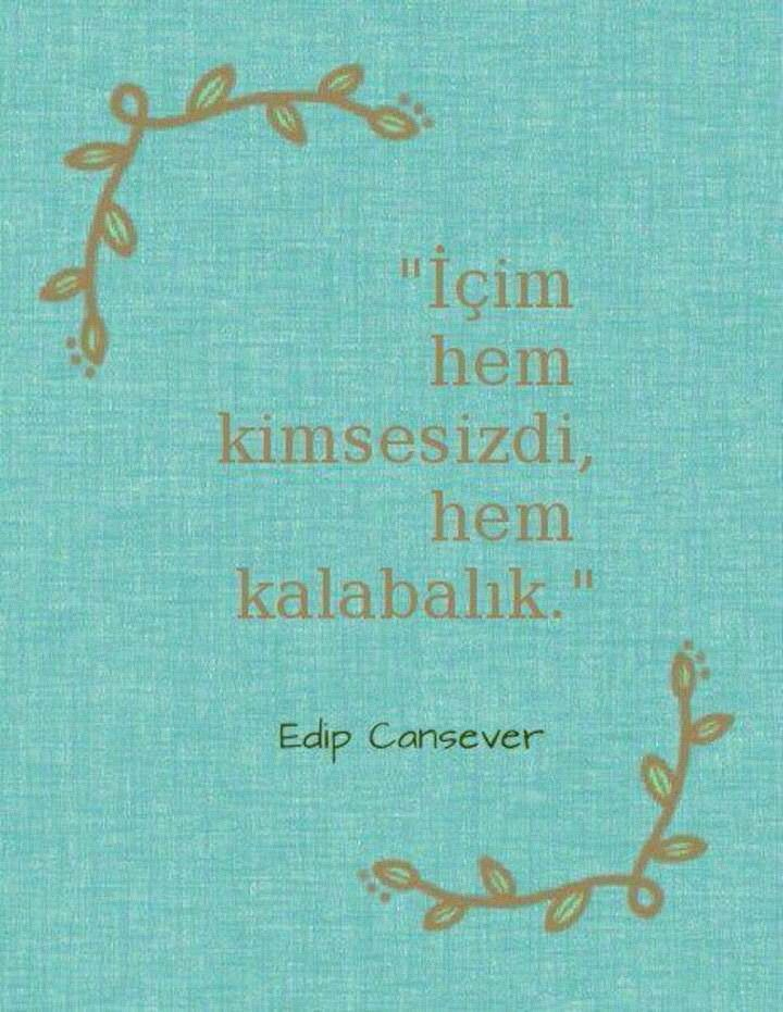 Edip Cansever..