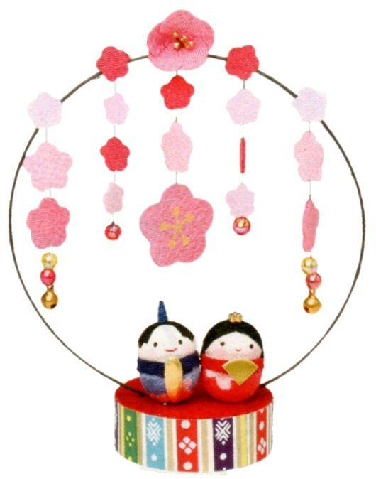 【ポイント還元率3%】京都 和匠ポラーコの雛人形   『満開もも花雛』手作りちりめん細工  リュウコドウ ひなまつりを紹介。商品の購入でポイントがいつでも3%以上貯まって、お得に買い物できます♪