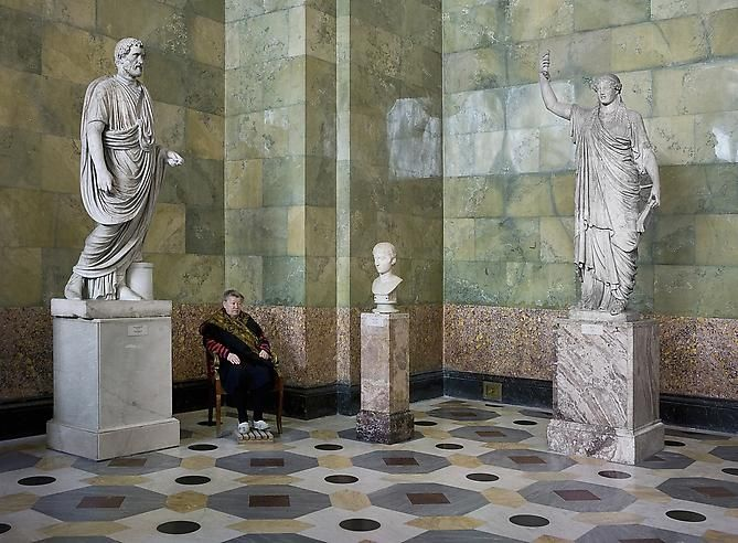 Statues of Antonius Pius, Youth and Caryatid, State Hermitage Museum, 2008 Archival pigment print