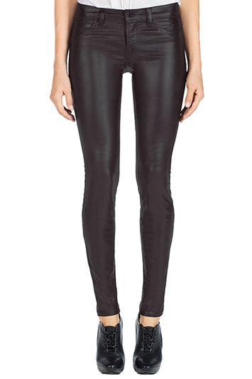 J Brand - 815 Mid-Rise Super Skinny Coated Jeans