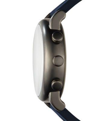 Emporio Armani Men's Connected Blue Rubber Strap Hybrid Smart Watch 43mm - Blue