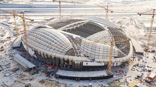 Zaha Hadid S Al Wakrah 2022 Fifa World Cup Stadium In Qatar Nears Completion World Cup Stadiums Qatar World Cup Stadiums 2022 Fifa World Cup