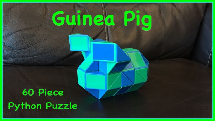 Original Youtube video showing how to make a guinea pig shape with the 60 piece Rubik's Twist or Smiggle Python Puzzle.  Check out the new Facebook Page where you will find images of all Antoine's video tutorials to date together with links to all his videos. Click the 'Like' button to see his Facebook posts when he uploads new videos https://www.facebook.com/AntoineTutorials :)