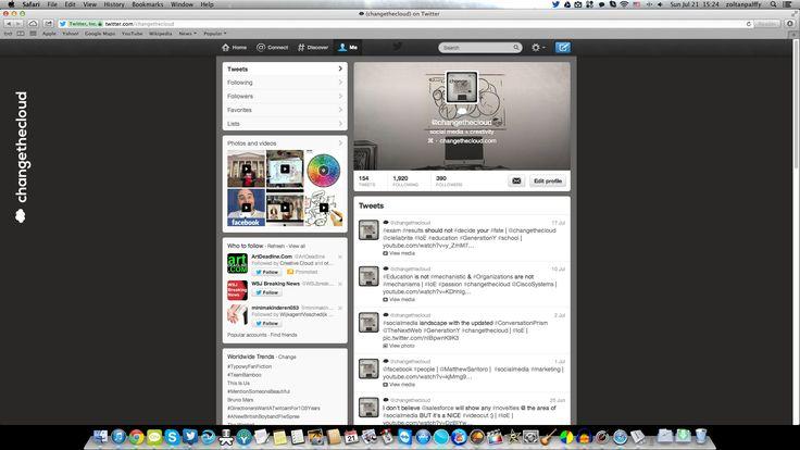 #changethecloud #twitter profile