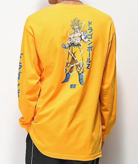 cec2ff07 Primitive x Dragon Ball Z Nuevo Goku Gold Long Sleeve T-Shirt | @giftryapp