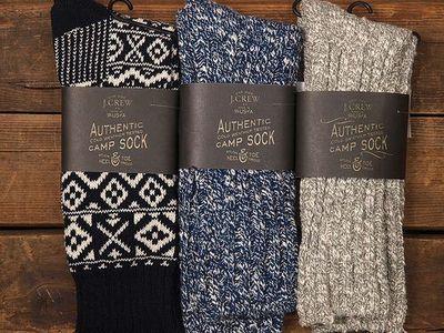 J. Crew Authentic J. Crew Socks-- Perfect for L.L. Bean Boots!