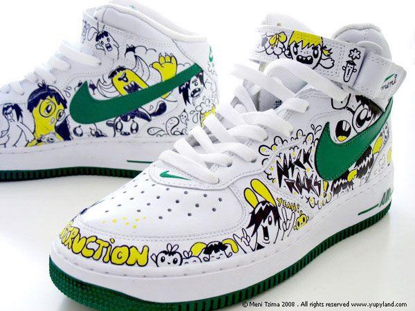 Custom painted Nike sneakers
