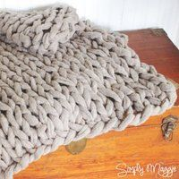Chunky Arm Knit Blanket