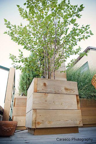 Pflanztrog aus Holzlatten