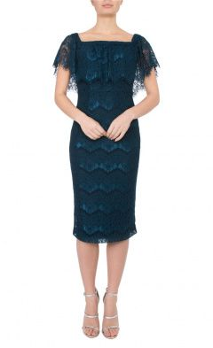 Petrol Lace Dress