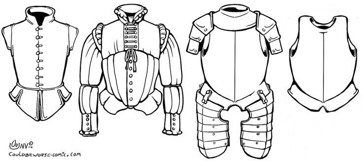 16th century armour, Doublet (sleeveless), Doublet, Half plate, Cuirass