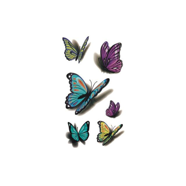 Butterfly Temporary Tattoo for Adult Waterproof Tatoo Stickers Body Art Beautiful 3D Butterfly Fake Tattoo for Women