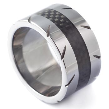 Five O Mens Wedding Ring - Mad Tungsten Rings & Stuff