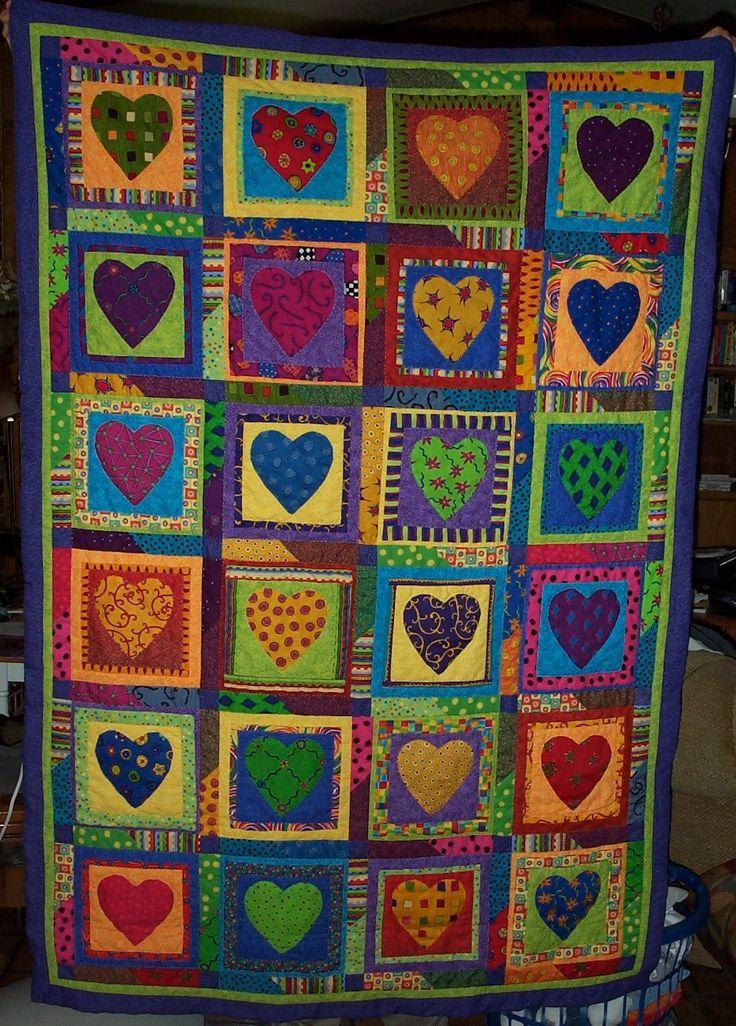 Best quilt heart images on pinterest quilts