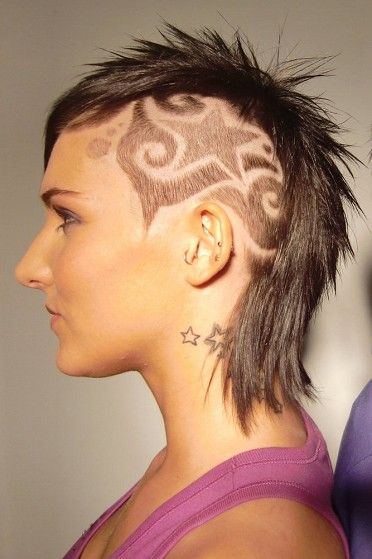 pictures of tribal hair tattoos for girls and women