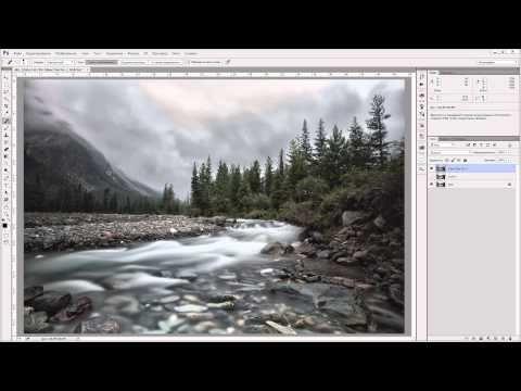 Обработка пейзажа + экшен. - YouTube