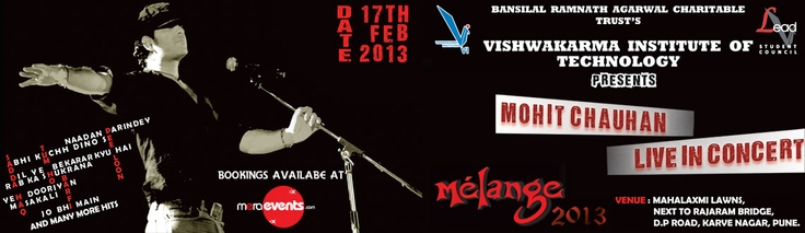 Mohit Chauhan Live In Concert on 17th Feb 2013 @ Mahalaxmi Lawn, Pune