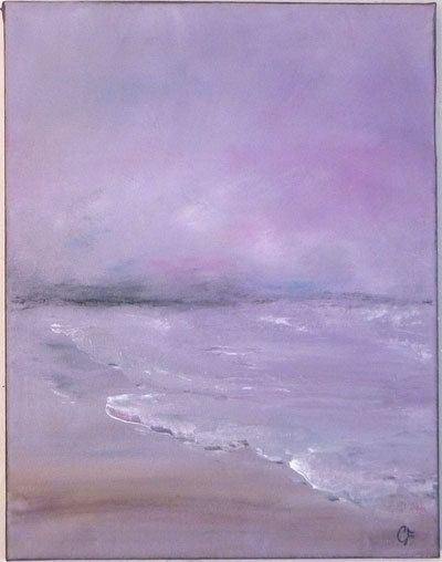 Serene Ocean painting Original art abstract by TheEscapeArtist