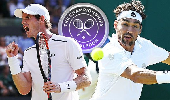 Andy Murray v Fabio Fognini LIVE from Wimbledon 2017: Latest updates and score
