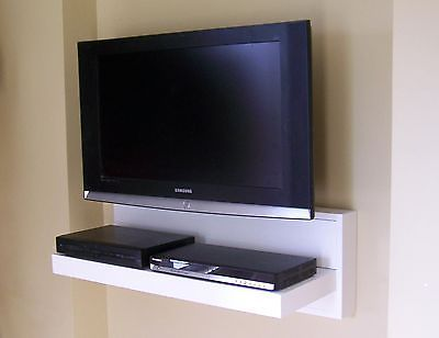 Floating AV Component Shelf LCD Flat TV Stand Custom Sizes Colors Offered | eBay