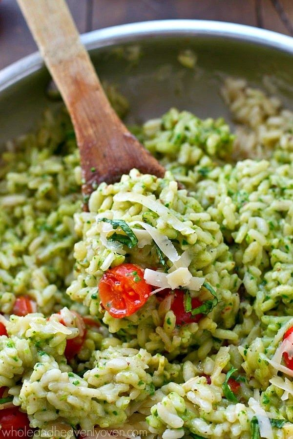 Parmesan Pesto Risotto | 23 Recipes You Need If You Just Fucking Love Pesto