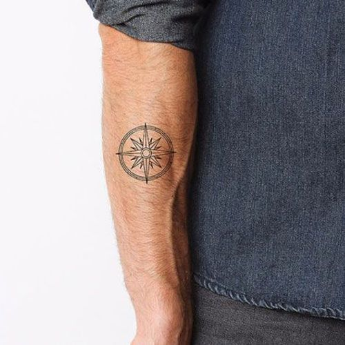 101 Best Small Simple Tattoos For Men 2020 Guide Simple Compass Tattoo Tattoos For Guys Compass Tattoo