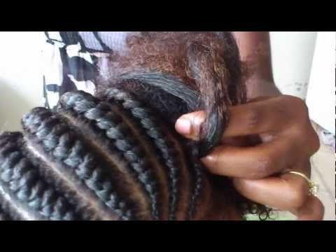 ▶ Tutorial Écailles de poisson (Ghana or Banana cornrows) - YouTube