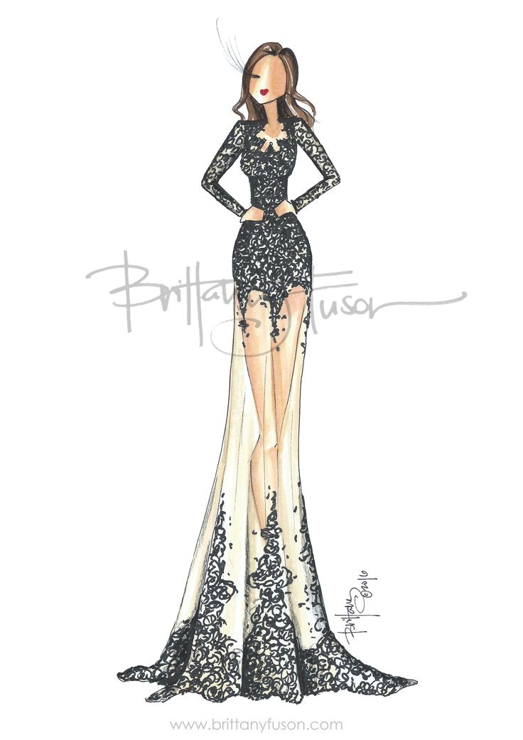 style dress design illustrations - Dress Design Ideas