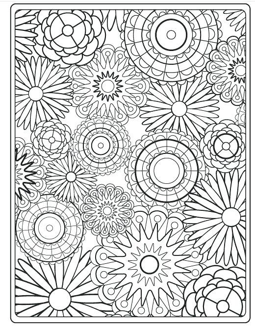 Hard Flower Coloring Pages Hard Flower Coloring Pages For Adults