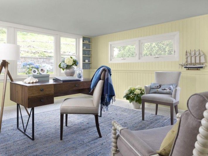 home office vintage style with bright color ideas home on color ideas for home office id=32772