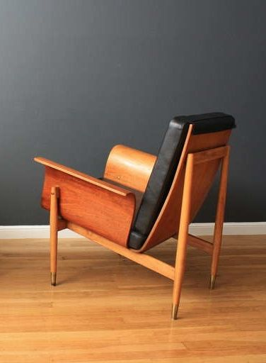 Anonymous; Bentwood Lounge Chair, c1969. -★-