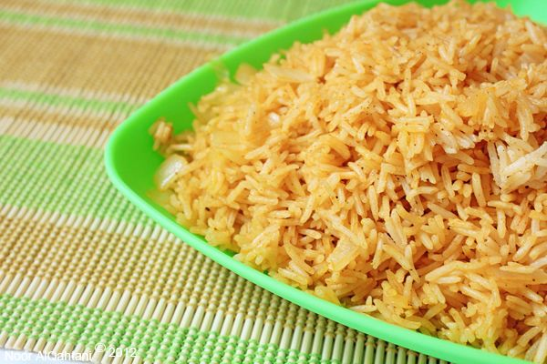 Arabic Gulf Rice | Ya Salam Cooking | I used red onion and added some red peppers in with the rice.  Delicious.: Eastern Cuisine, Spices Mixed, Eastern Food, Nom Nom