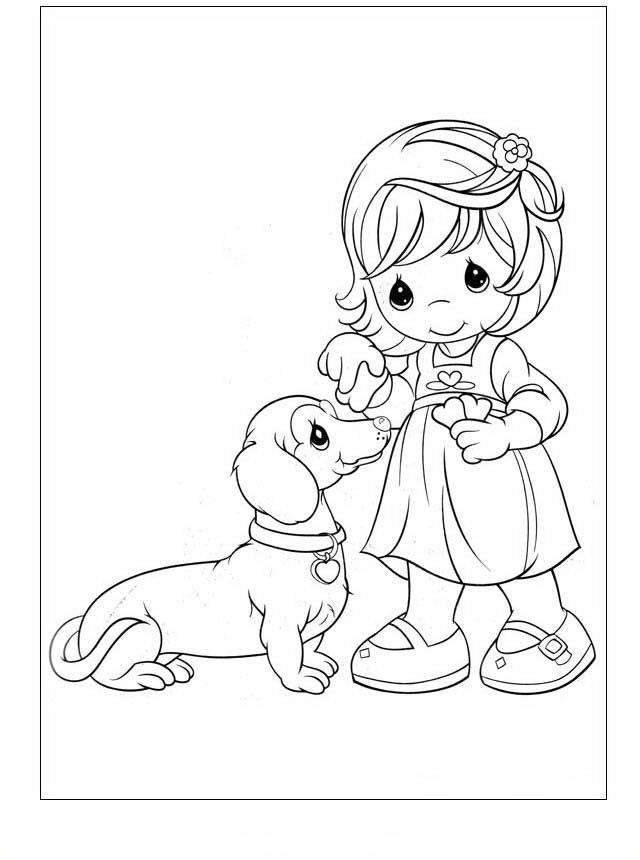 Precious Moments Tegninger Til Born 39 Precious Moments Coloring Pages Puppy Coloring Pages Dog Coloring Page