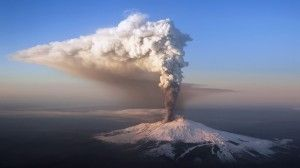 a stunning explosion with gases and lapillis from main cratares #Etna #Sicily