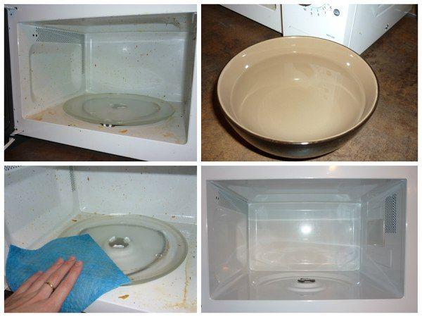 Как легко отмыть микроволновку?